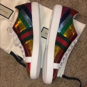 BRAND NEW Gucci Rainbow Sneakers 38.5 SOLD OUT